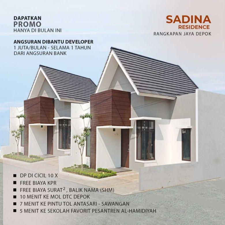 Sadina Residence, Rumah Baru 1 Lantai Dekat Masjid Kubah Emas