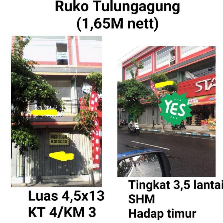 Ruko Tulungagung Murah Strategis Dekat Jalan Raya