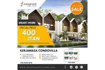 Dijual Villa Murah Puncak Desain 2 Lt Fasilitas BBQ Area