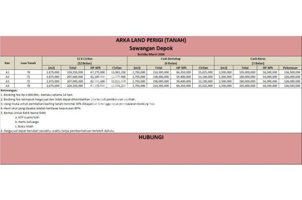 Kapling Tanah CICIL 12 X BERTAHAP, Legalitas Aman: SHM 16359480