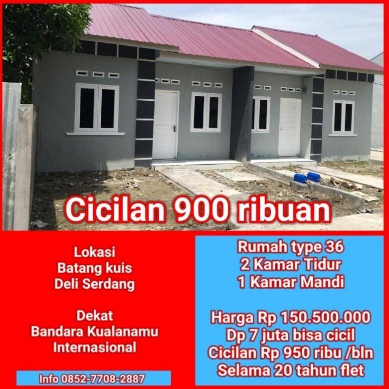 Rumah Subsidi Cicilan 900 ribuan Batang Kuis
