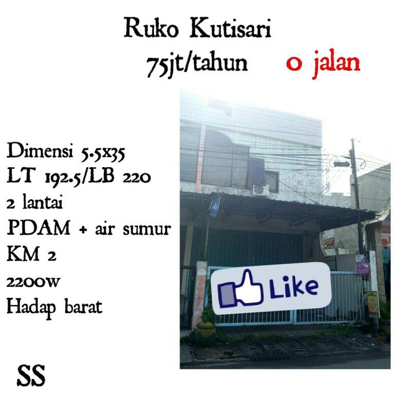 Ruko Kutisari Surabaya Selatan 0 jalan dekat universitas petra