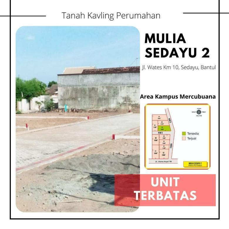 Kavling Tanah Area Pemukiman Bantul - Sedayu Bonus Tv 40 inch/Kulkas