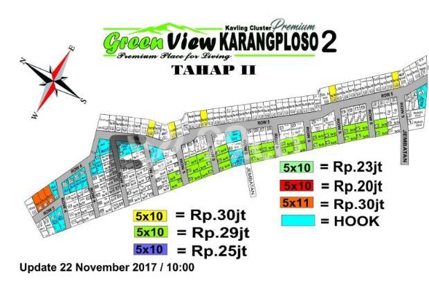 Green View Karangploso 2 tahap 2 Warna putih SOLD 14372384