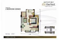 Nest 2 Bedroom Corner Tower D Lantai 8