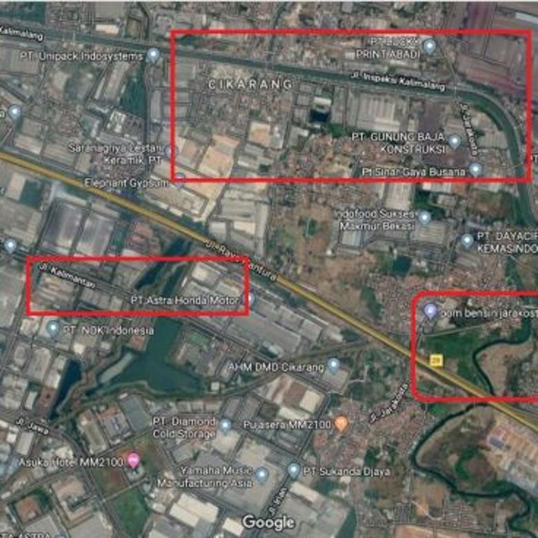 Tanah Industri 6,2 Hektar Cikarang Dekat Inspeksi Kalimalang