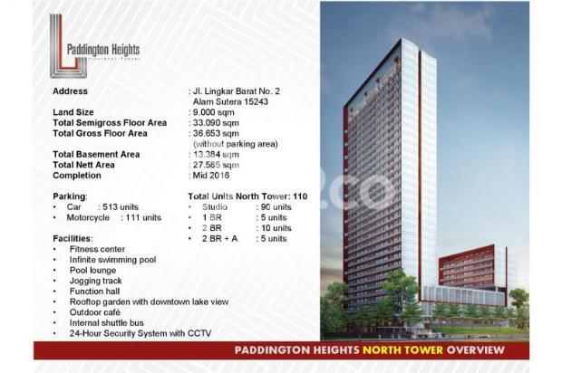 Apartemen Paddington Heights Alam Sutera, Siap Huni 7608391