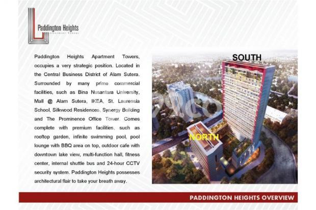 Apartemen Paddington Heights Alam Sutera, Siap Huni 7608403