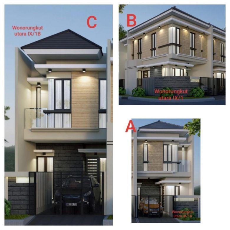 Rumah Baru Gress 2 Lantai Wono Rungkut Utara Lokasi Ciamik