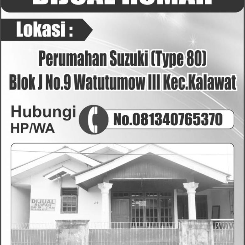 Rumah Dijual Murah Sekali