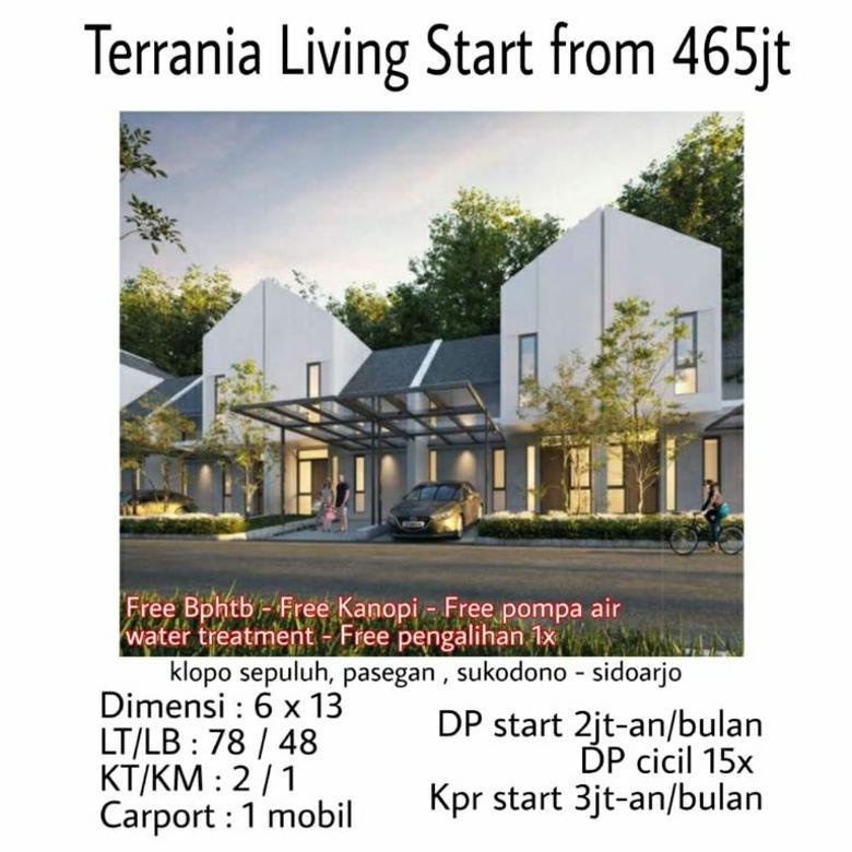 Rumah murah terrania living sukodono pasegan sidoarjo dp cicil