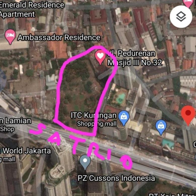 Dijual Tanah Jl Dr Satrio Kuningan Jakarta Selatan