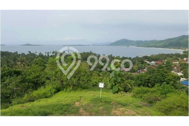 Tanah di Bukit Sekotong - Lombok Barat dengan pemandangan laut dan Gili 12960442