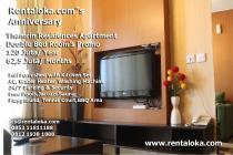 BIG PROMO ANNIVERSARY RENTALOKA Thamrin Residence 2 BR Full Furnished C7