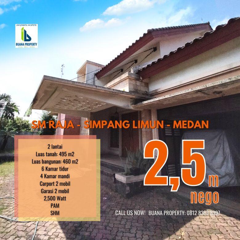 Rumah Luas 2 lantai 4 Kamar Tidur Jl. Kemiri SM Raja Medan
