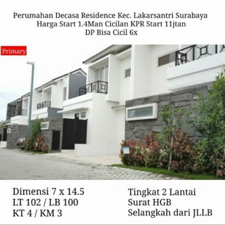 rumah decasa residence 1.4 M cicilan KPR 11 jutan  DP cicil 6x