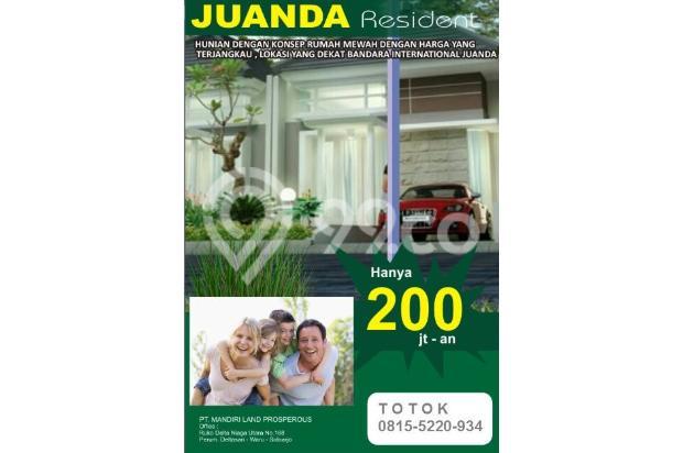 RUMAH dekat Bandara Juanda 200 jt an di  Juanda Residence nol jalan aspal 16441233