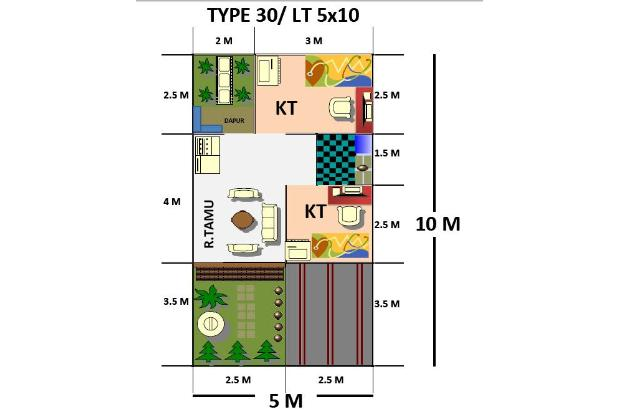 RUMAH dekat Bandara Juanda 200 jt an di  Juanda Residence nol jalan aspal 16441240