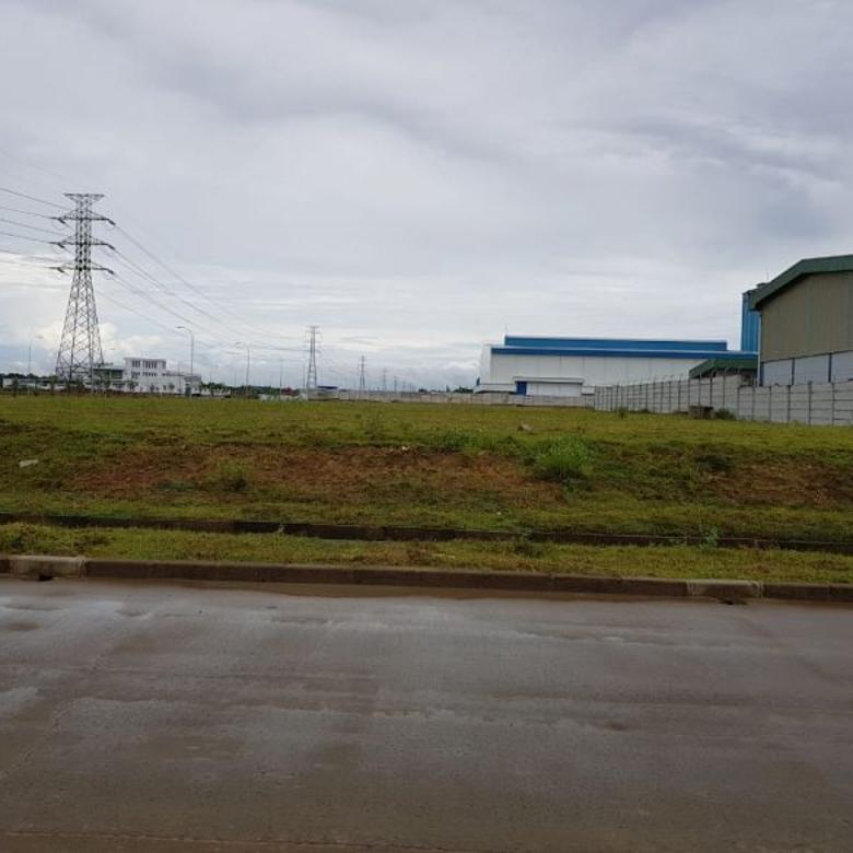 kavling industri lebar 45 m, di modern cikande  luas 4420 m2