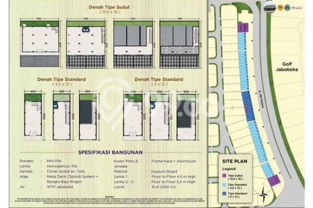 Dijual Ruko Baru Sudirman Boulevard Jababeka Residence,Cikarang 12899034