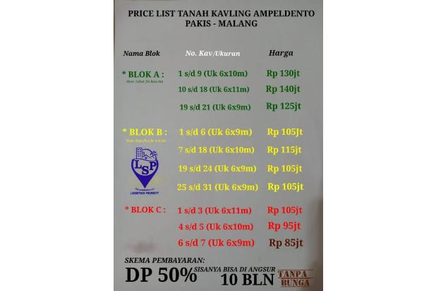 Rp95jt Tanah Dijual
