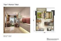 Dijual Apartemen Tipe Studio Corner Strategis di Casa Dee Parco Tangerang