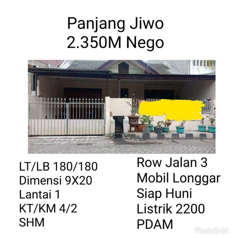 Panjang Jiwo Tenggilis Mejoyo Dekat Ubaya 2.350M Nego
