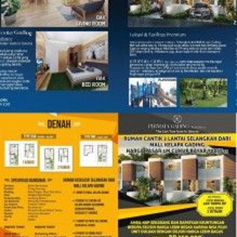 Rumah Dijual Permata Gading Residence Cluster baru River Town Jakarta Timur