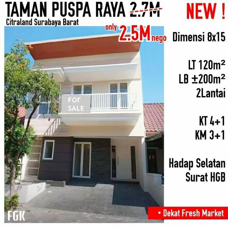 rumah taman puspa raya 2.5 M (nego) dekat fresh market