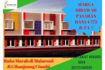 Ruko dijual di Bandung, Harga Dibawah Pasaran Ruko 2 Lantai