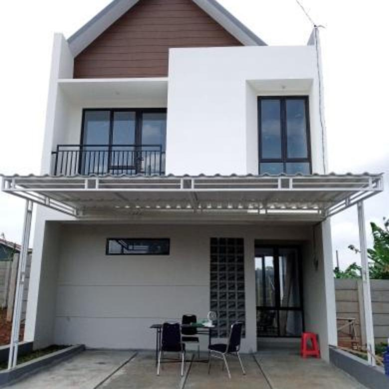 Rumah Skandinavia Minimalis Modern, Rumah 2 Lt, harga 1 Lantai