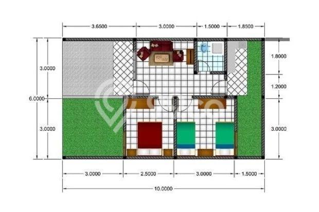 Denah Rumah; LT 60 LB 30, 2 kamar 16638901