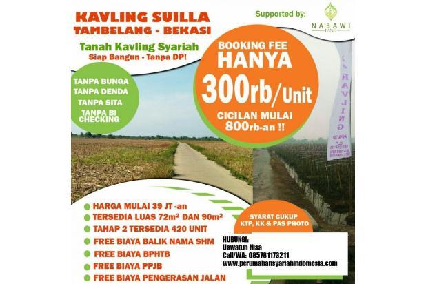 Cicilan 800Ribuan Tanpa DP | KPR Kavling Tanah Syariah Tambelang, Bekasi 15422477