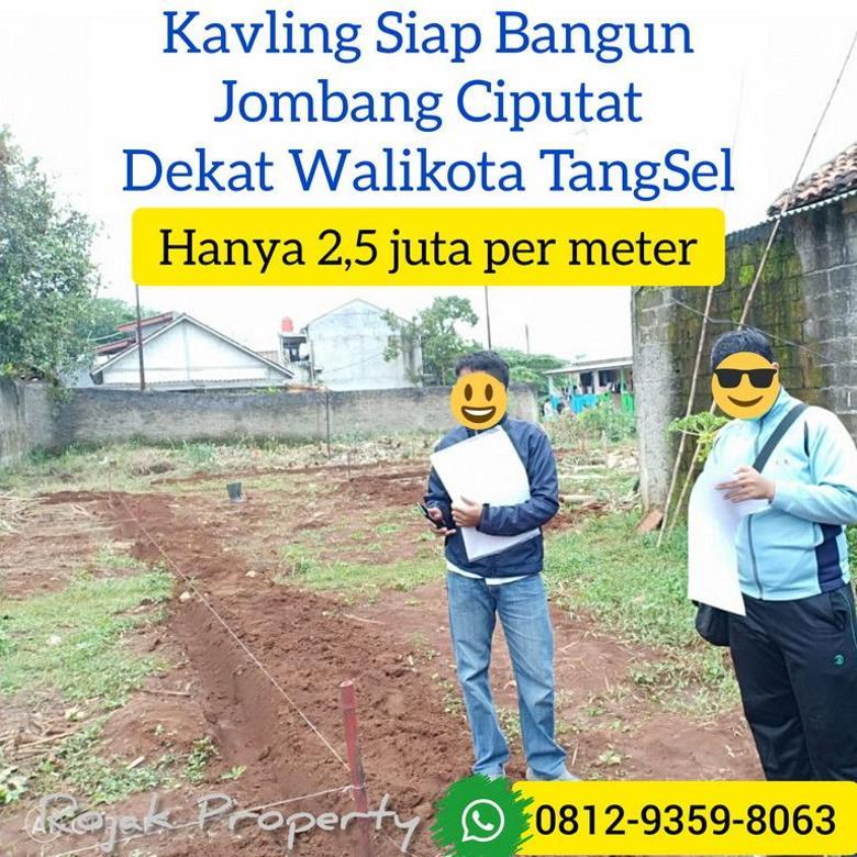 Tanah kavling murah Jombang Ciputat dekat Stasiun Sudimara