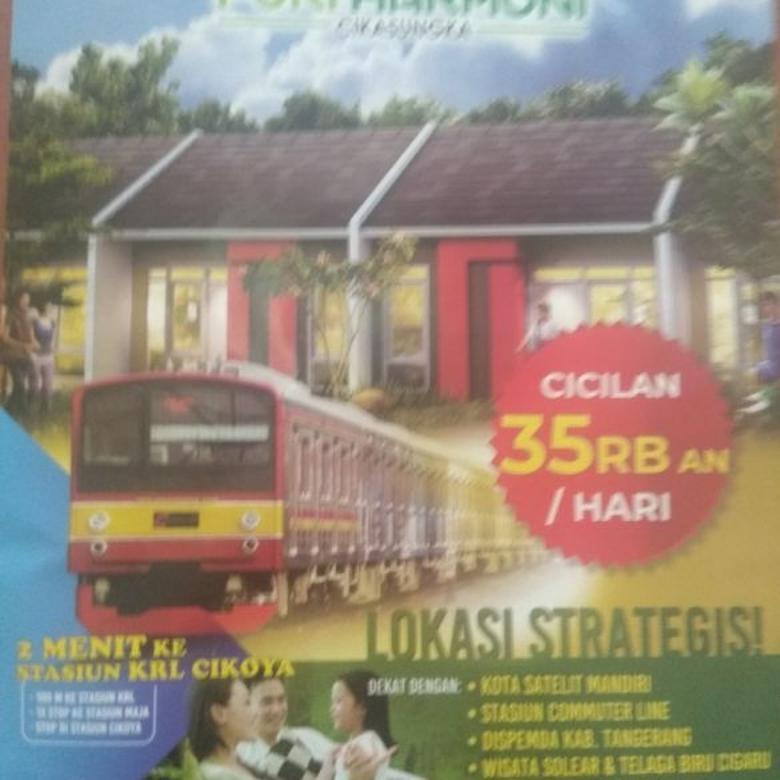 rumah subsidi DP 0%, 100 ktr dr Stasiun Cikoya