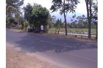 Tanah luas jalan Provinsi Pinggir Jalan besar di Cimaung