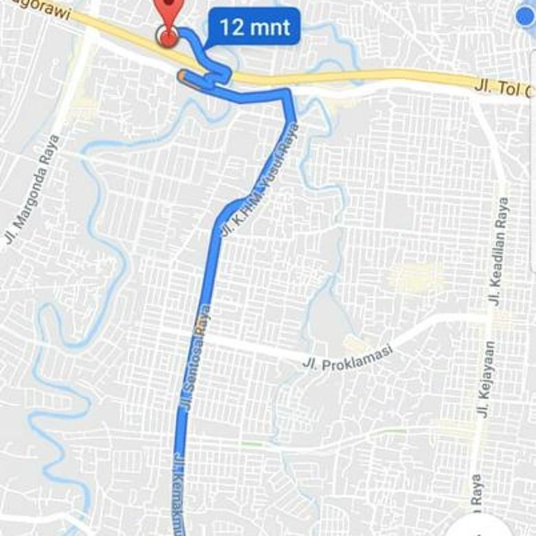 Rumah Pinggir Jalan Raya Tole Iskandar 3 Menit ke Stasiun Depok Baru