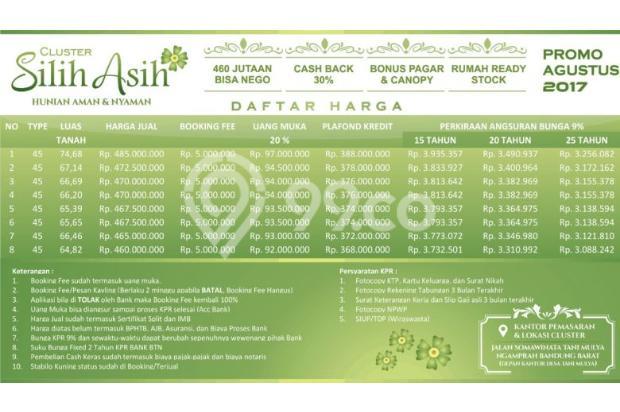 Dijual RUmah Hunian di Clutser Eksklusif Silih asih depan desa tanimulya 13243902