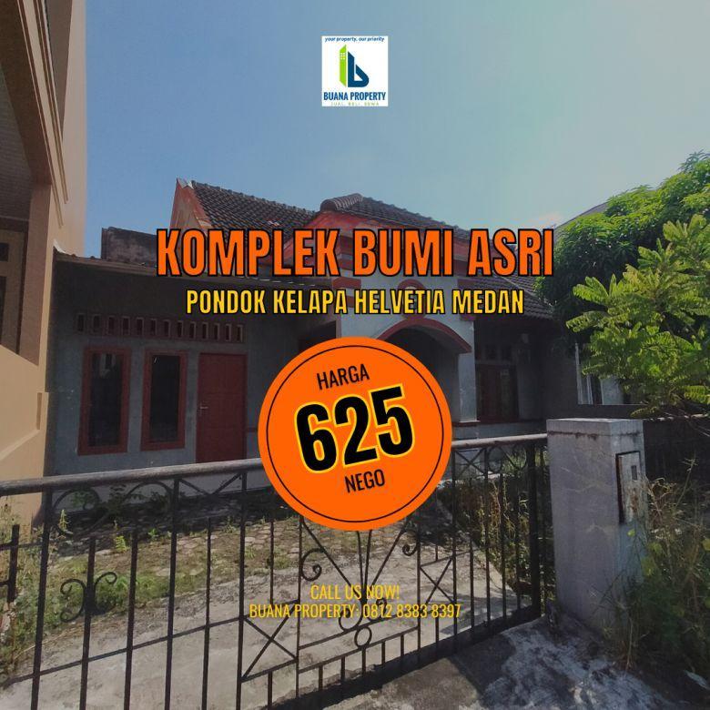 Rumah 600 Jutaan di Komplek Bumi Asri Pondok Kelapa Medan