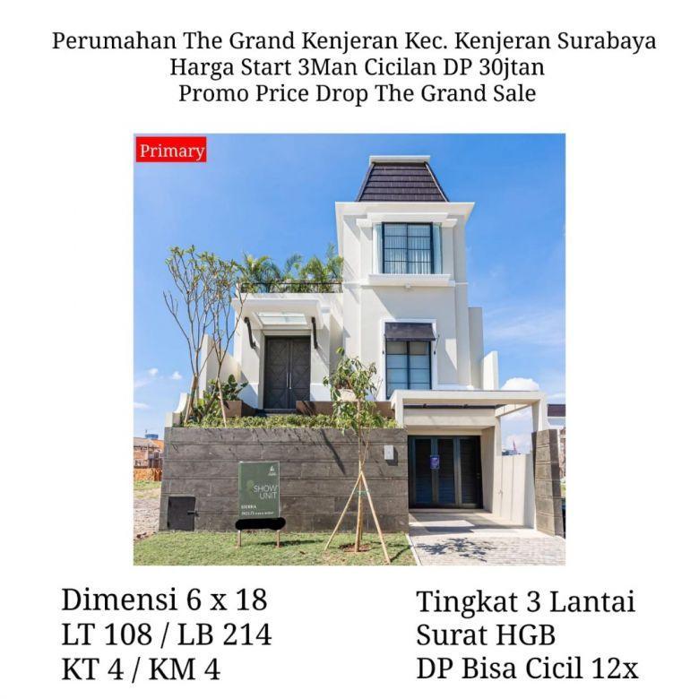 rumah the grand kenjeran surabaya baru murah mewah strategis