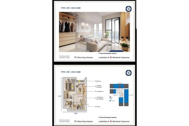 Rp717jt Apartemen Dijual