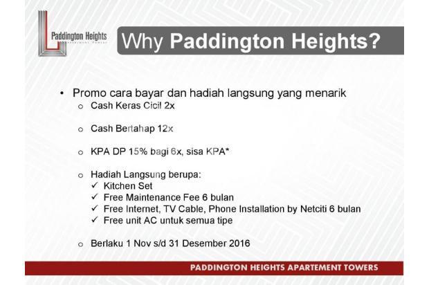 Apartemen Paddington Heights, Investasi Menguntungkan 18289644