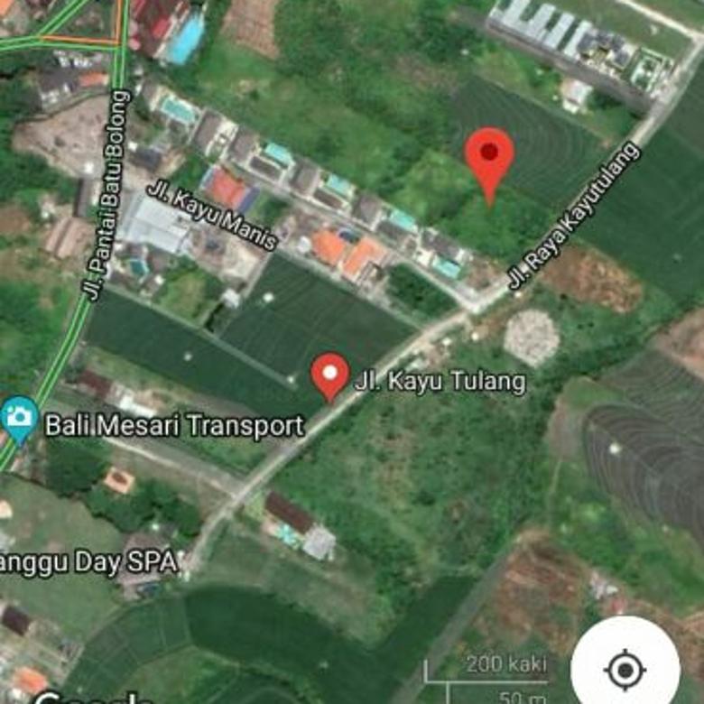 Tanah Komersial di jln raya Kayu Tulang Selatan Canggu, Bali