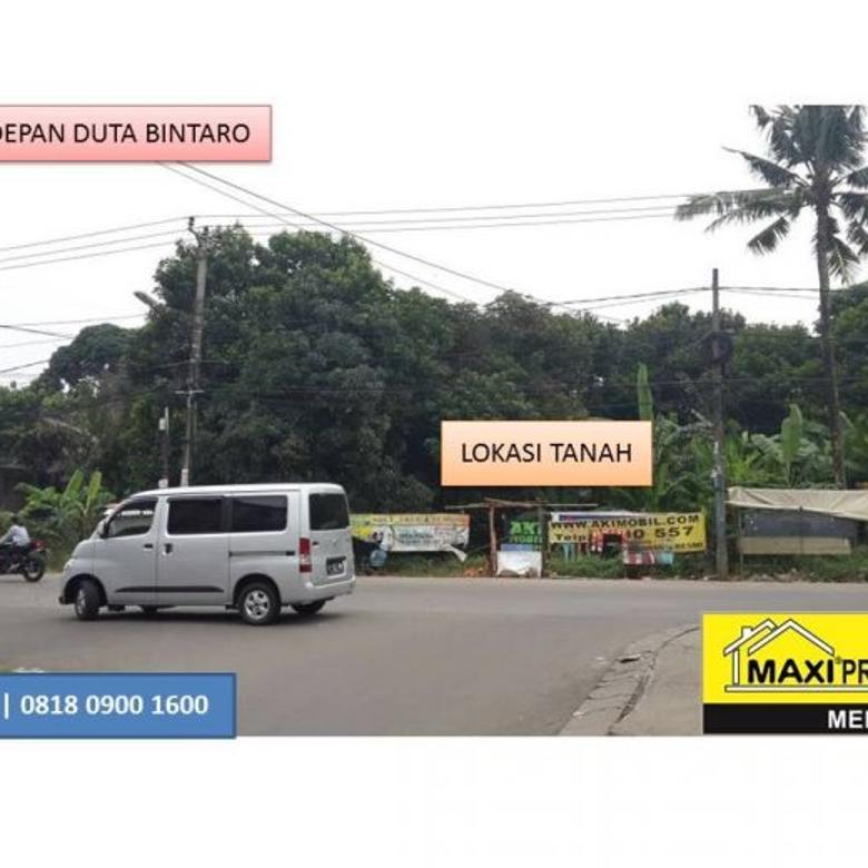 Dijual Cepat Tanah Depan Perumahan Duta Bintaro Dekat Alam Sutera