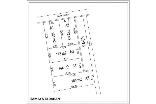 Rp139jt Tanah Dijual