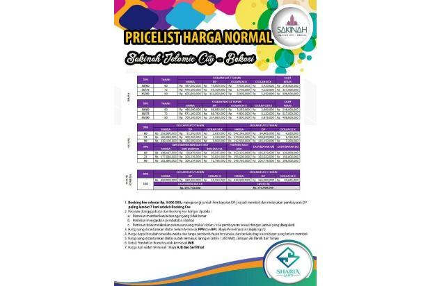 Jual Rumah Tipe 36/72 Dengan Lingkungan Islami Di Bekasi 17149544
