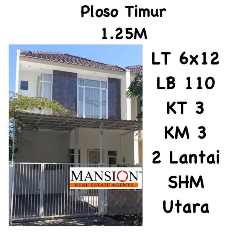 Rumah Ploso Timur Surabaya dkt Mulyorejo Merr Minimalis Nego