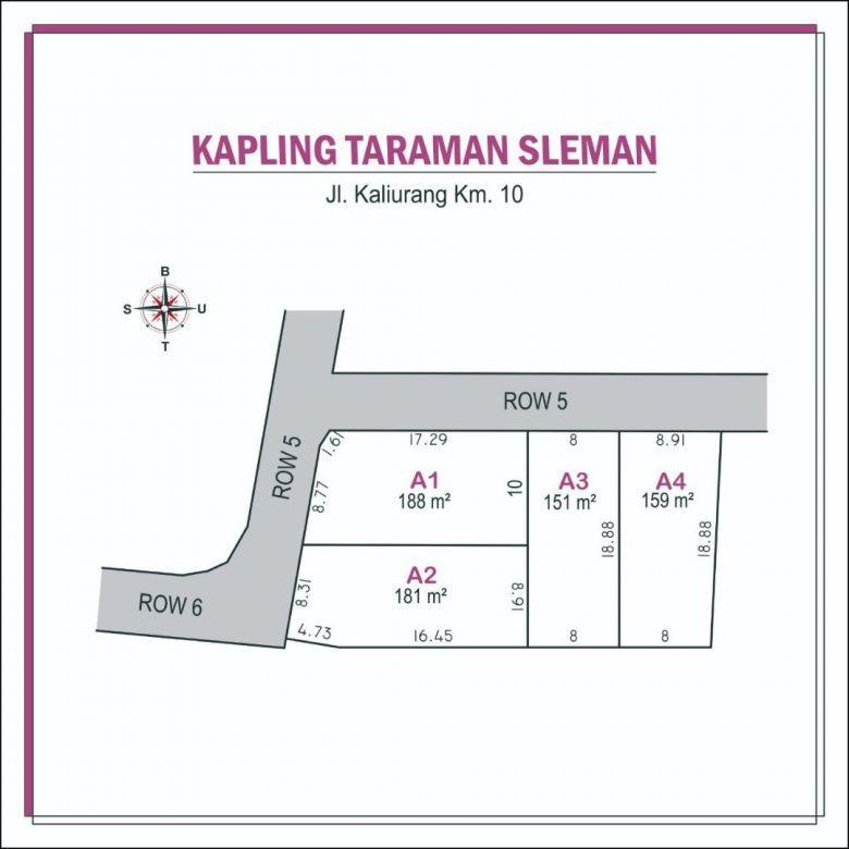 Beli Tanah Sleman Dekat Pasar Gentan, Jakal KM 10: AKSES MUDAH