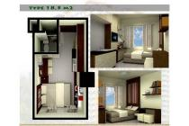 Apartemen The Jarrdin Studio ukuran 18,5m2 Bandung Cihampelas