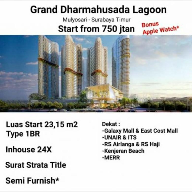 Apartemen grand dharmahusada lagoon mulyorejo surabaya dekat i